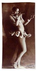 Josephine Baker Lucien Walery   Banana Skirt From The Folies Bergere Production Un Vent De Folie Hand Towel