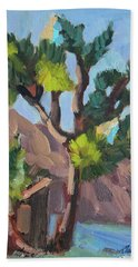 Bath Towel featuring the painting Joshua At Keys Ranch by Diane McClary