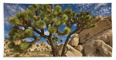 Joshua Tree And Blue Sky Hand Towel