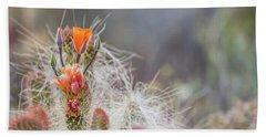 Joshua Tree Cactus And Flower Hand Towel