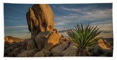 Joshua Tree Rock Formation Bath Towel