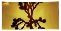 Hand Towel featuring the photograph Joshua Tree by Stephen Stookey