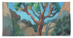 Hand Towel featuring the painting Joshua Tree Study by Diane McClary