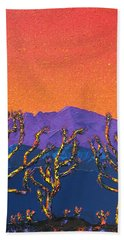 Joshua Trees Hand Towel by Mayhem Mediums