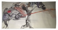 Jousting And Falcony Album  Bath Towel by Debbi Saccomanno Chan