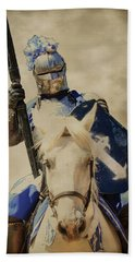 Hand Towel featuring the photograph Jousting by Steve McKinzie