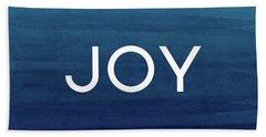 Joy Blue- Art By Linda Woods Hand Towel