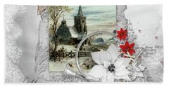 Hand Towel featuring the digital art Joy To The World by Mo T