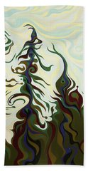 Joyful Pines, Whispering Lines Hand Towel