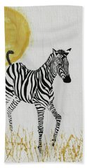 Hand Towel featuring the painting Joyful by Stephanie Grant
