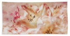 Jubilee Blush Bath Towel by Jean OKeeffe Macro Abundance Art
