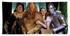Judy Garland And Pals The Wizard Of Oz 1939-2016 Hand Towel by David Lee Guss