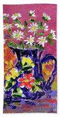 Jug Of Daisies Hand Towel by Lynda Cookson