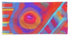 Hand Towel featuring the painting Juicy Colored Abstract by Susan Stone