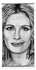 Julia Roberts In 2008 Bath Towel by J McCombie