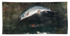 Jumping Trout Hand Towel