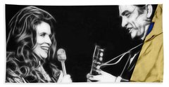 June Carter And Johnny Cash Collection Hand Towel