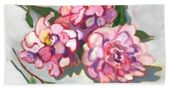 June Peonies Bath Towel