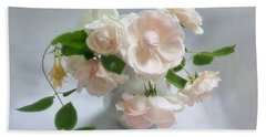 June Roses With Honeysuckle Hand Towel