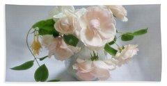 June Roses With Honeysuckle Bath Towel