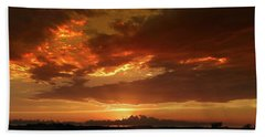 Bath Towel featuring the photograph June Sunset by Rod Seel