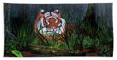 Jungle Cat Hand Towel