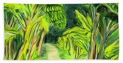 Bath Towel featuring the digital art Jungle Path by Jean Pacheco Ravinski