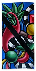 Original Colorful Abstract Art Painting - Multicolored Chromatic Artwork Bath Towel