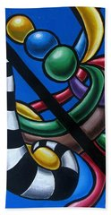 Original Colorful Abstract Art Painting - Multicolored Chromatic Artwork Painting Bath Towel
