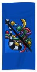 Jungle Stripes 3 - Original Abstract Art Painting - Modern Chromatic Art Hand Towel