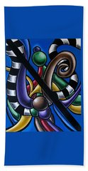 Jungle Stripes 2, Colorful Chromatic Abstract Artwork Hand Towel