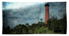 Jupiter Lighthouse-2a Bath Towel
