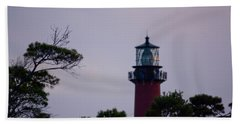 Bath Towel featuring the photograph Jupiter Lighthouse by Donna Walsh