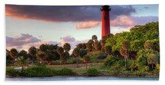 Jupiter Lighthouse Bath Towel