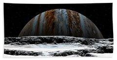 Jupiter Rise At Europa Bath Towel by David Robinson