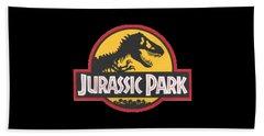 Jurassic Park T-shirt Hand Towel by Herb Strobino
