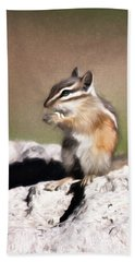 Bath Towel featuring the photograph Just A Little Nibble by Lana Trussell