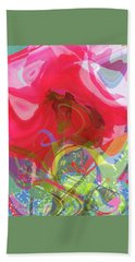 Just A Wild And Crazy Rose - Floral Abstract - Colorful Art Hand Towel