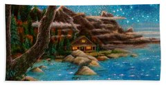 Hand Towel featuring the painting Just Before Dawn by Matt Konar