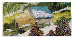 Hand Towel featuring the painting Just Down The Hill by John Williams