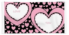 Just Hearts 2 Hand Towel