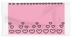 'just Hearts 8' Hand Towel