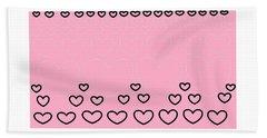 'just Hearts 8' Bath Towel