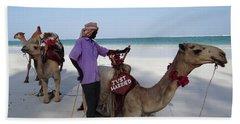 Just Married Camels Kenya Beach 2 Bath Towel by Exploramum Exploramum