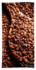 Just One Scoop At The Coffee Brew House  Hand Towel