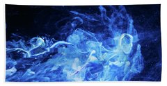 Just Passing By - Blue Art Photography Bath Towel