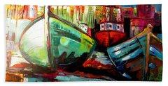Just The Colors Bath Towel by Ken Pridgeon