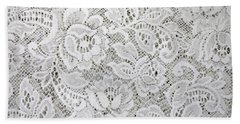 Hand Towel featuring the photograph Just White Lace by Nareeta Martin