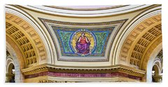 Justice Mural - Capitol - Madison - Wisconsin Bath Towel