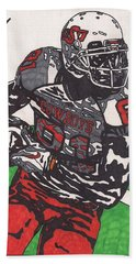 Justin Blackmon 2 Hand Towel by Jeremiah Colley